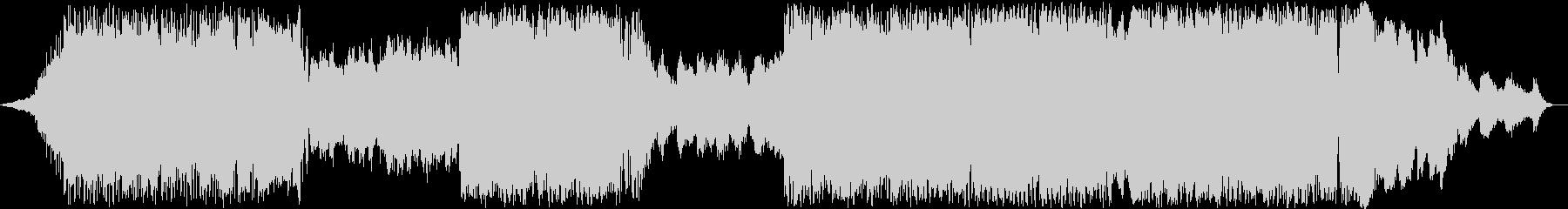 曲調が3回変わるエレクトロニカの未再生の波形