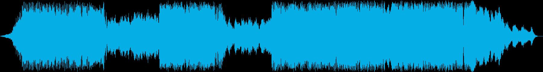 曲調が3回変わるエレクトロニカの再生済みの波形