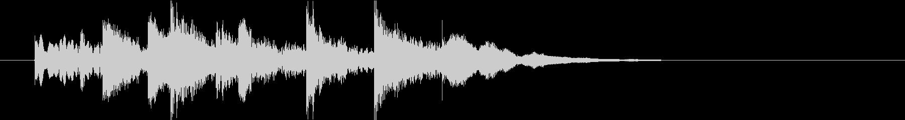 マリンバによる楽しいジングルの未再生の波形