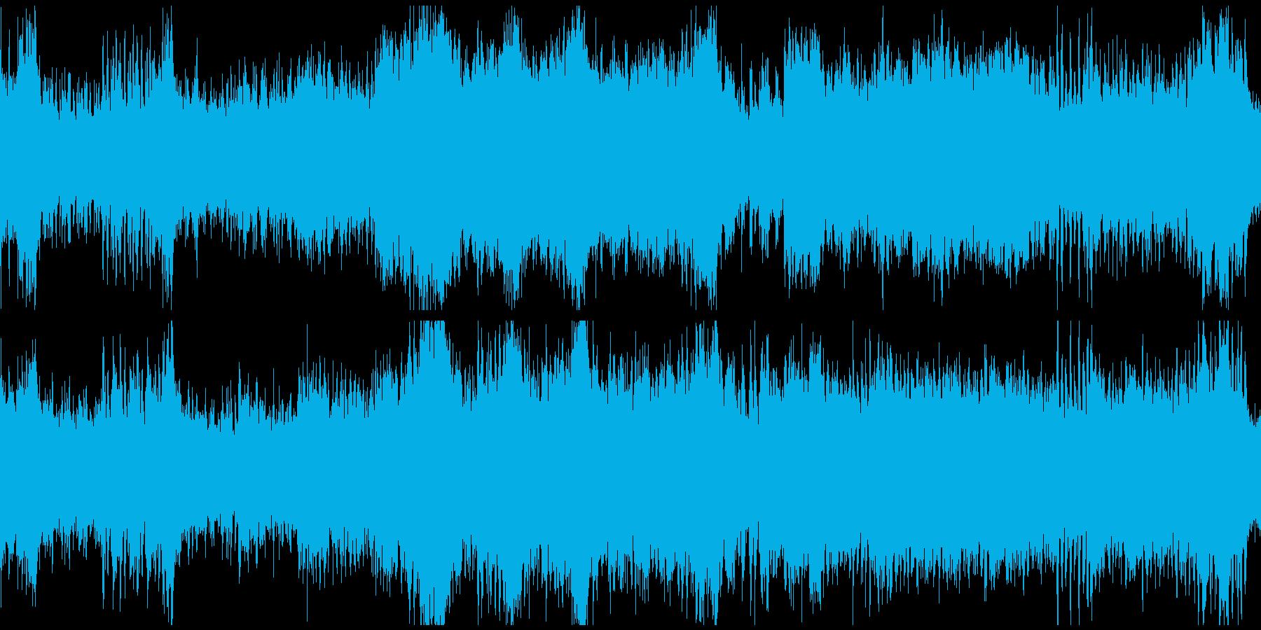 翔け!躍動感のある雄大なオーケストラ曲の再生済みの波形