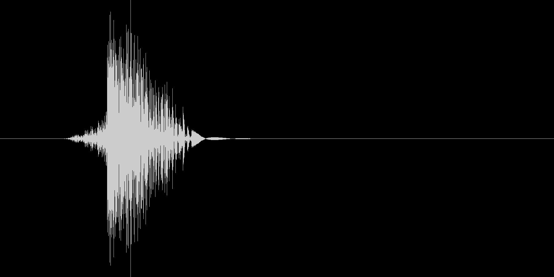 ゲーム(ファミコン風)ヒット音_017の未再生の波形