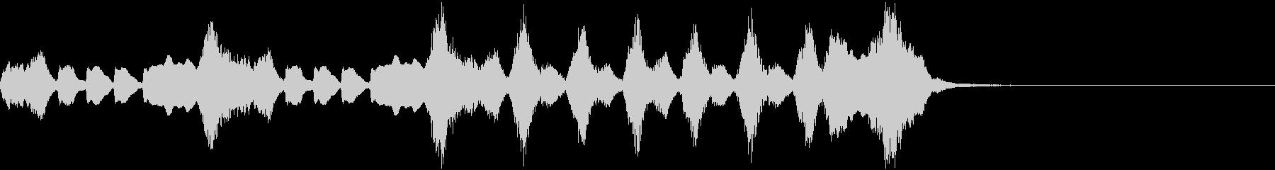 ほのぼのコミカルなオーケストラ・ジングルの未再生の波形