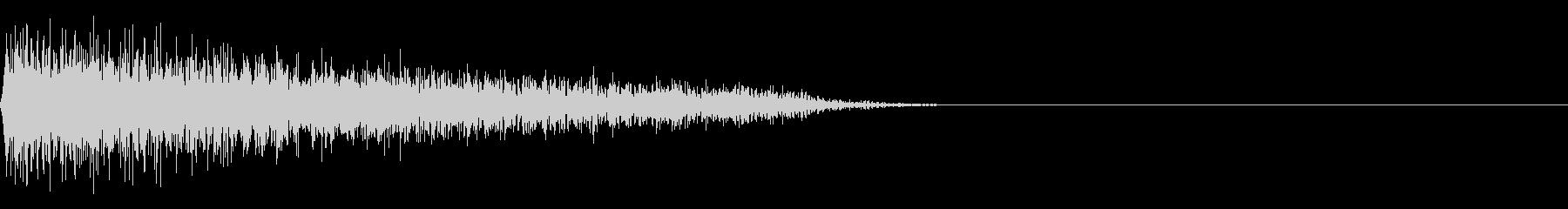 FX・SEピアノ/ショック/衝撃/1-Cの未再生の波形