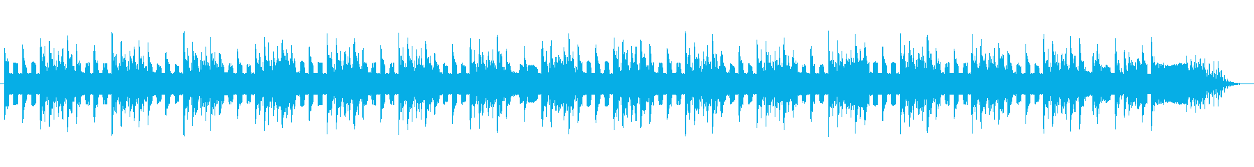 ファミコン風の短めなジングル&BGMの再生済みの波形