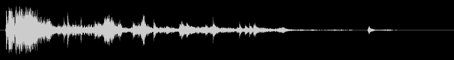 ドっカランカラン(部品が飛び散る音)の未再生の波形