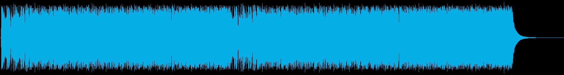 ポップでアップテンポな木琴混じりの曲の再生済みの波形
