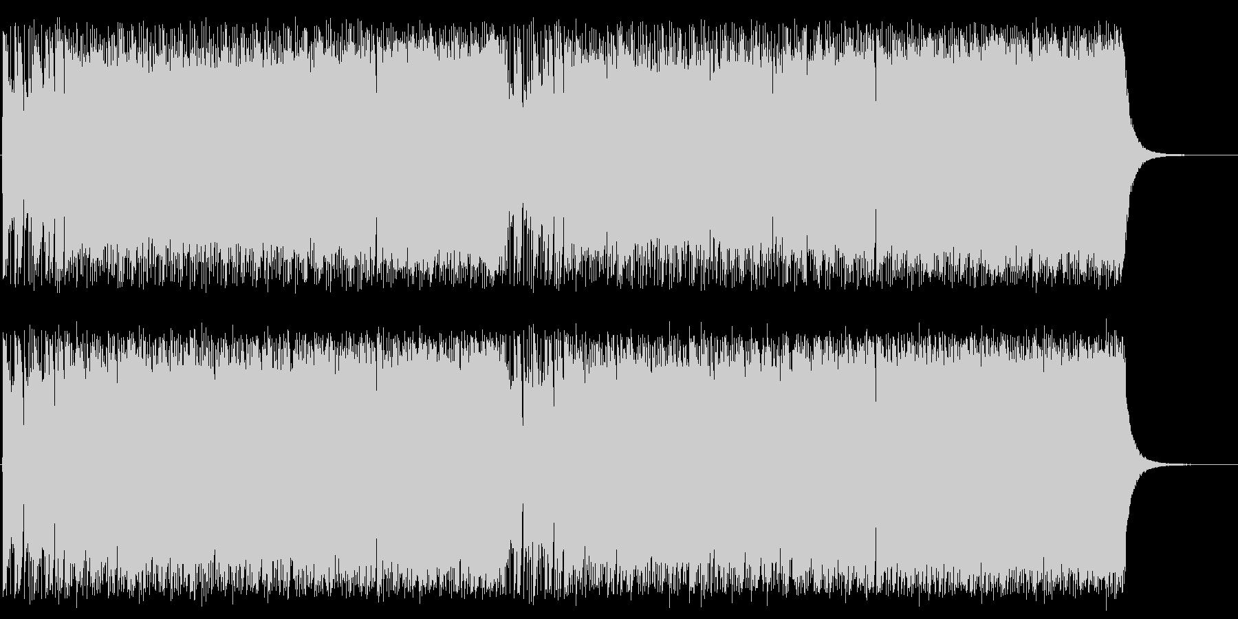 ポップでアップテンポな木琴混じりの曲の未再生の波形