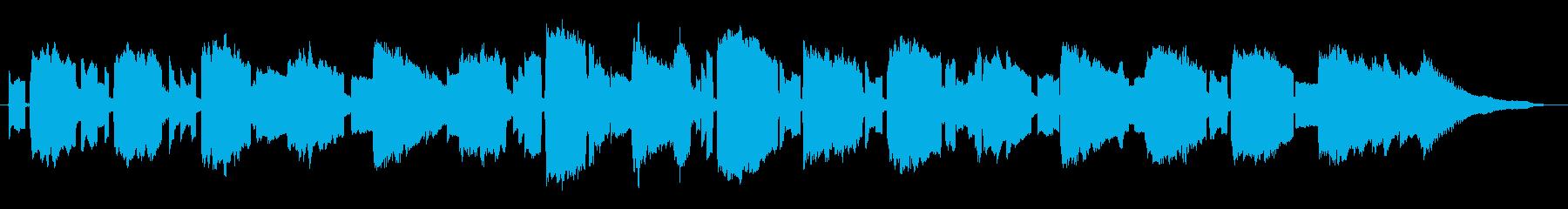 リコーダー ピアノのアメイジンググレースの再生済みの波形