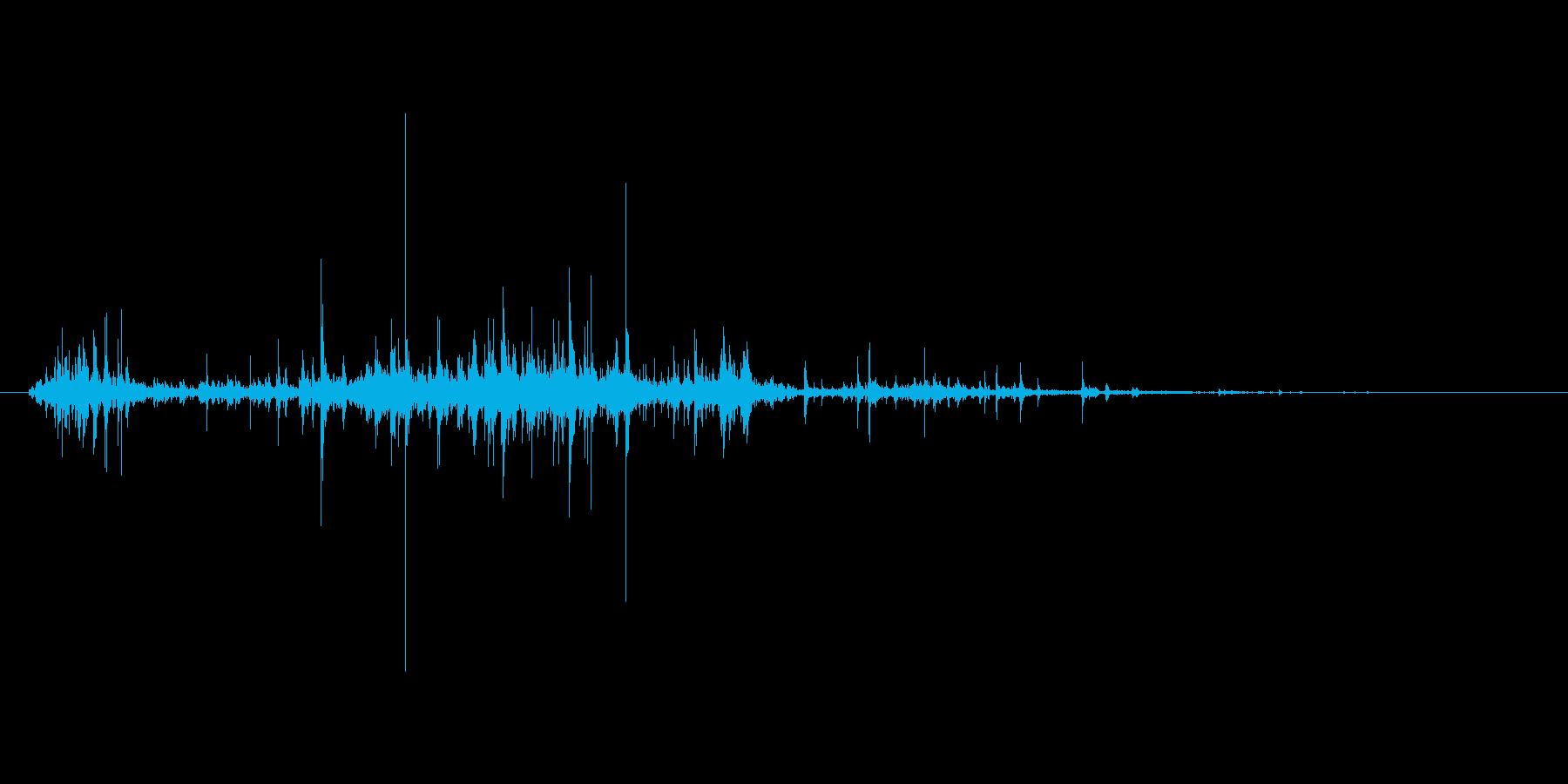 ゴミ袋をあさる音「ガサッ」の再生済みの波形