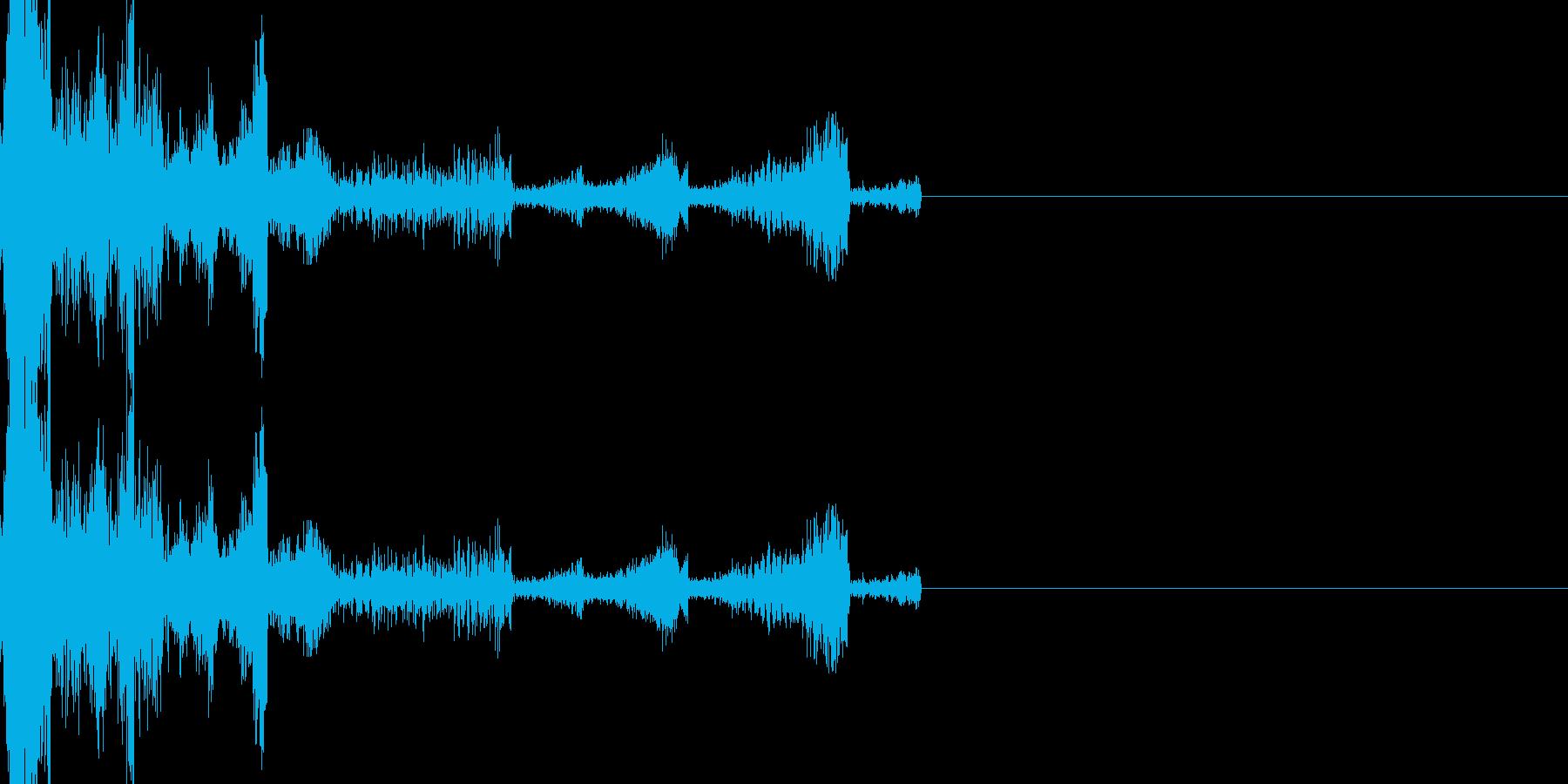 何かやらかしたときの音の再生済みの波形