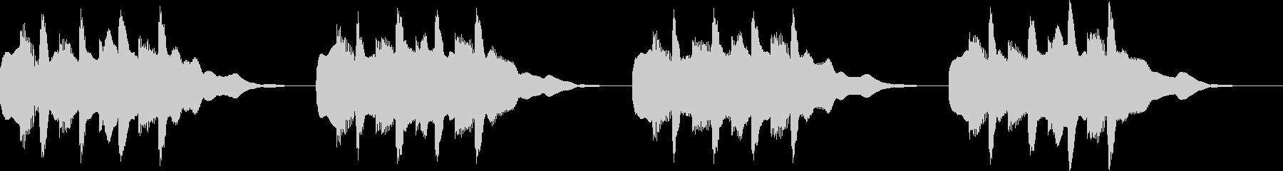オーソドックスメロディアス着信音3の未再生の波形