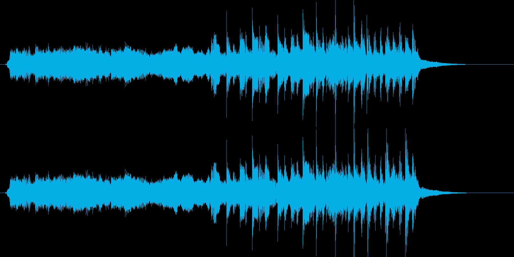 静かなアルペジオとメタルなアプローチの再生済みの波形