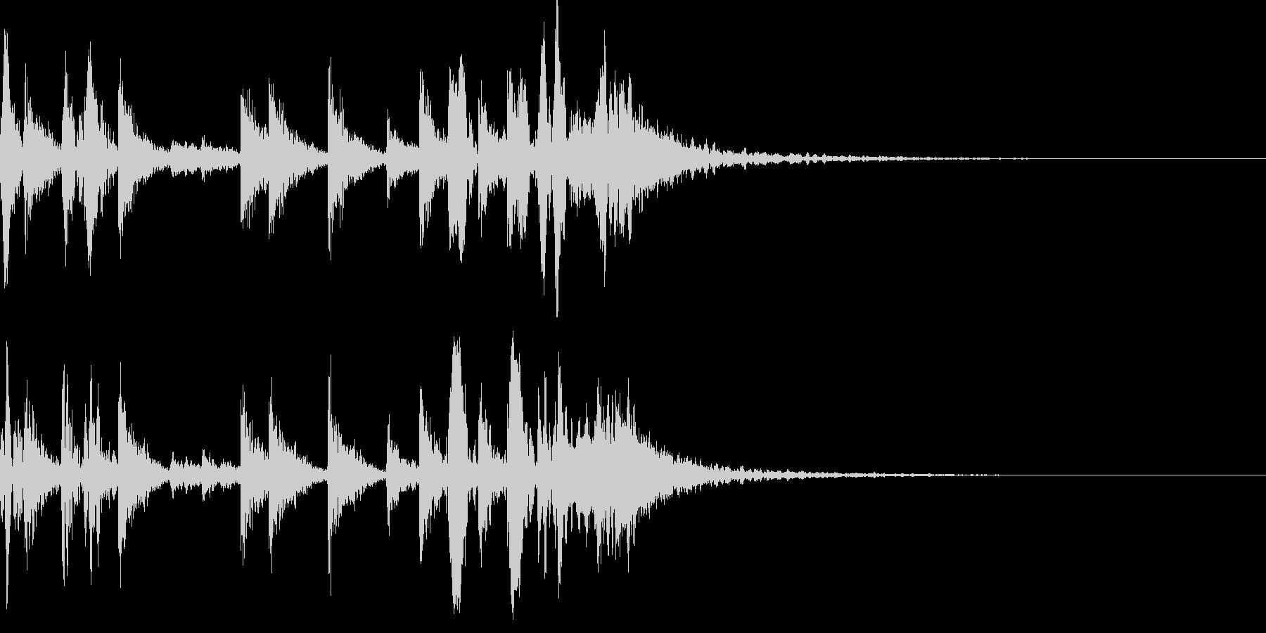 生ドラムロール ジングル 場面転換♪03の未再生の波形