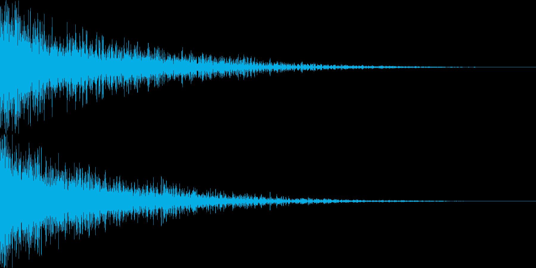 タイトル表記_アクセント音_3の再生済みの波形