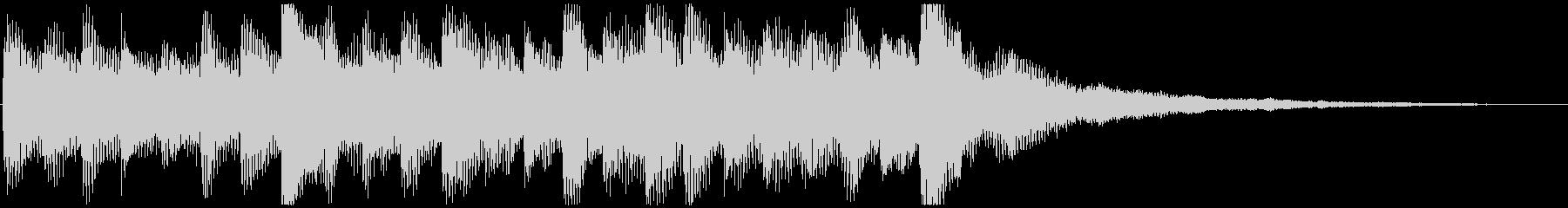 駆け出す ピアノ&サウンドエフェクトの未再生の波形