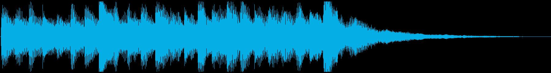 駆け出す ピアノ&サウンドエフェクトの再生済みの波形