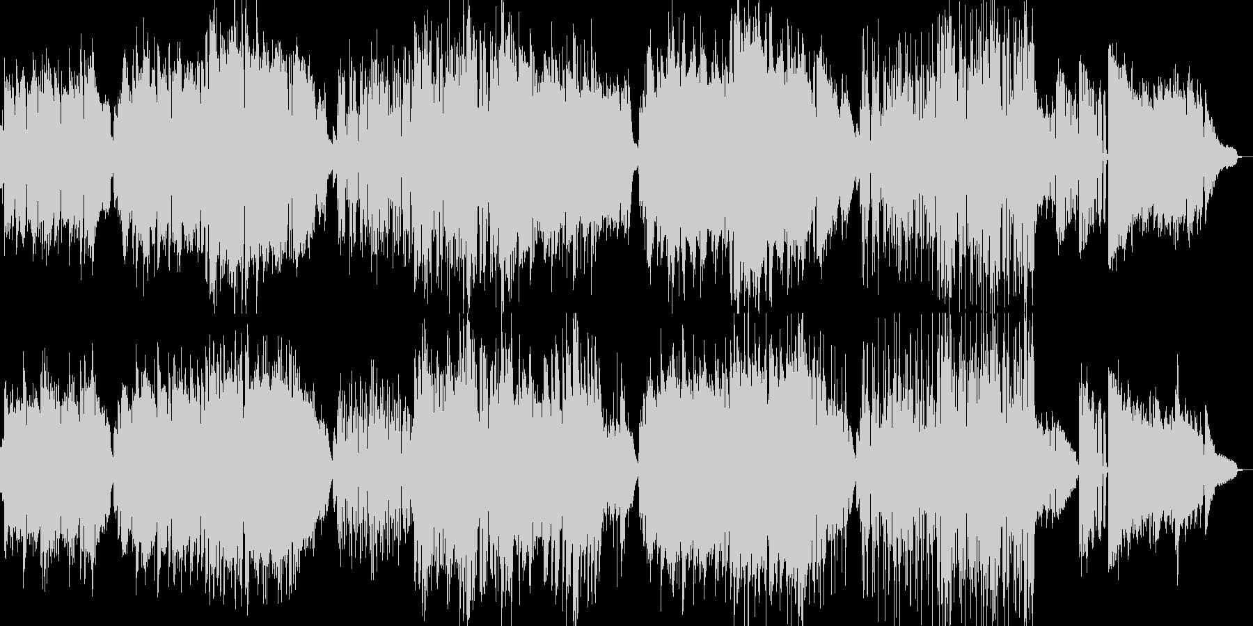 懐かしの音楽室をイメージしたBGMの未再生の波形