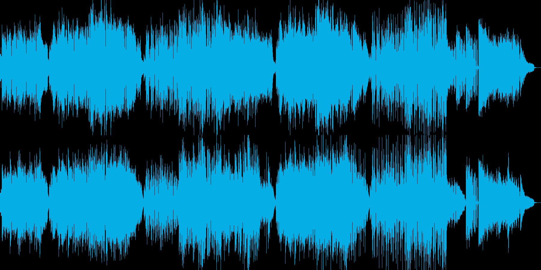 懐かしの音楽室をイメージしたBGMの再生済みの波形