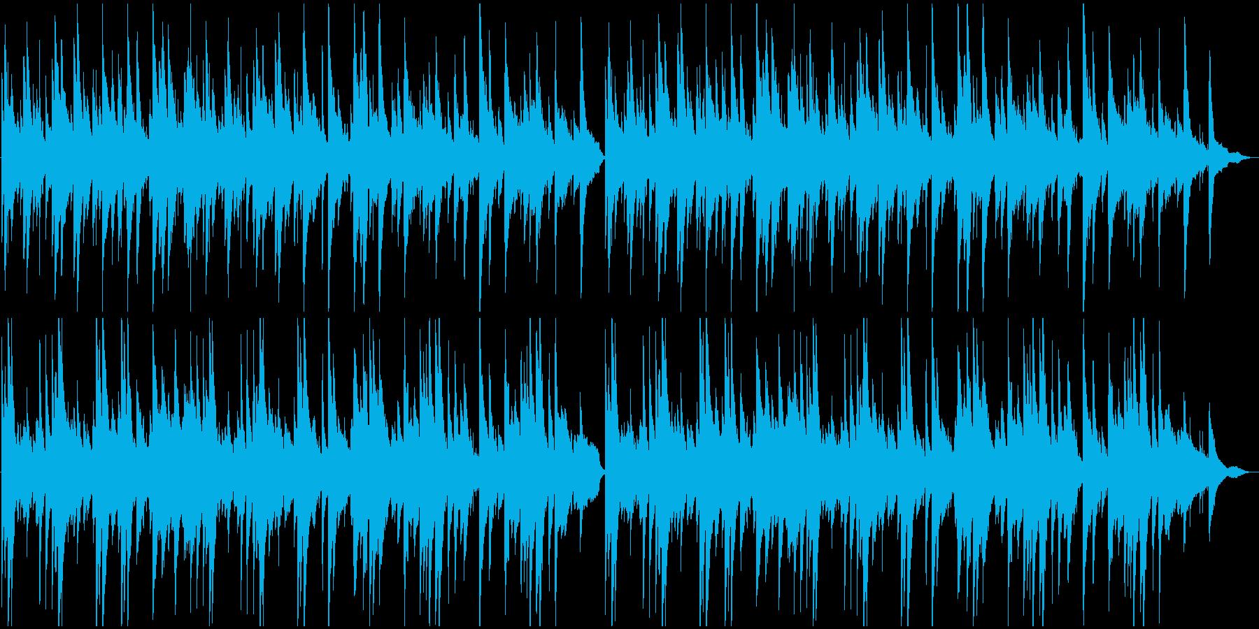 おやすみを感じるピアノメインのBGMの再生済みの波形