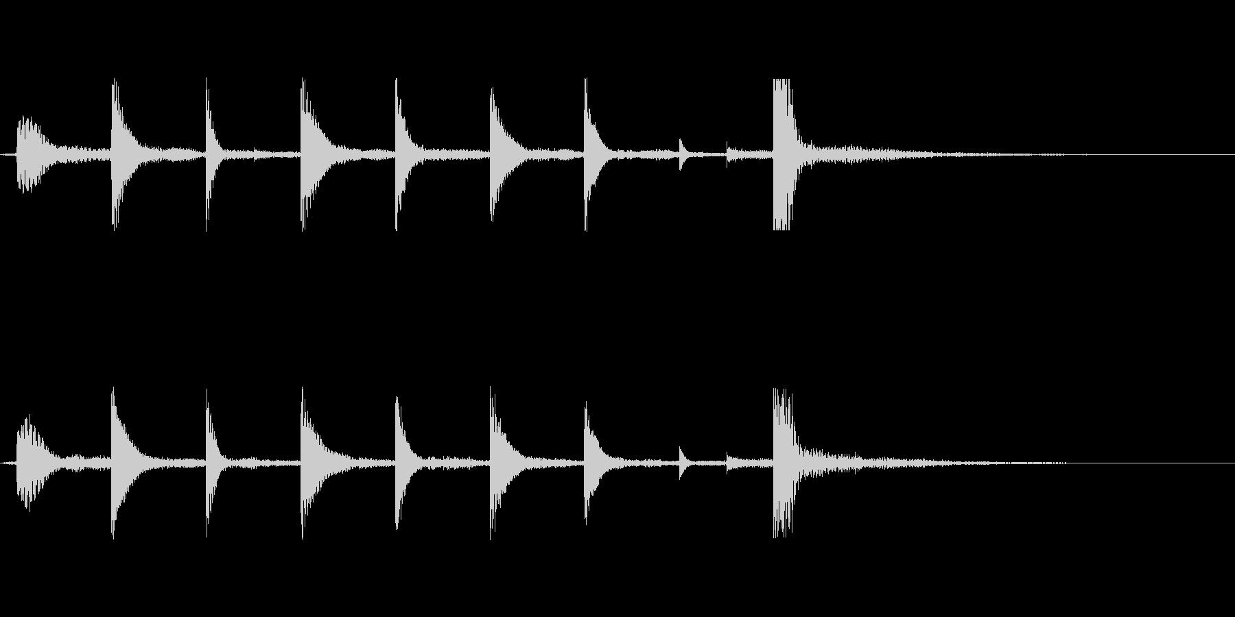 ゲームオーバー(少しのメロディーの音)の未再生の波形