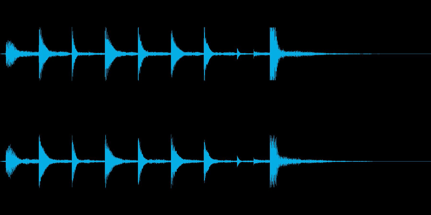 ゲームオーバー(少しのメロディーの音)の再生済みの波形