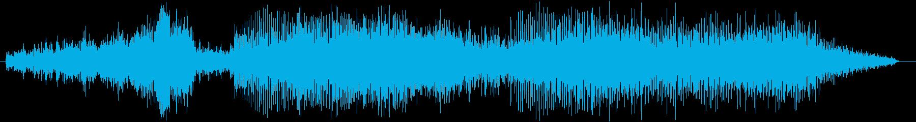 ブーン・・ブロロロ【車の走行音】の再生済みの波形