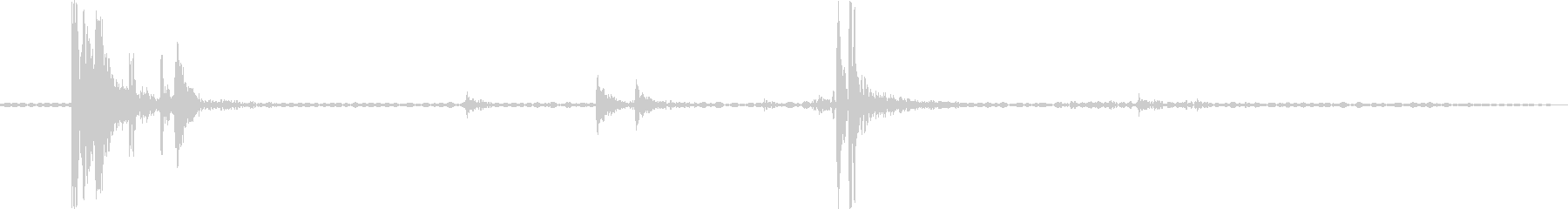 カパッ(瓶を閉める音の未再生の波形