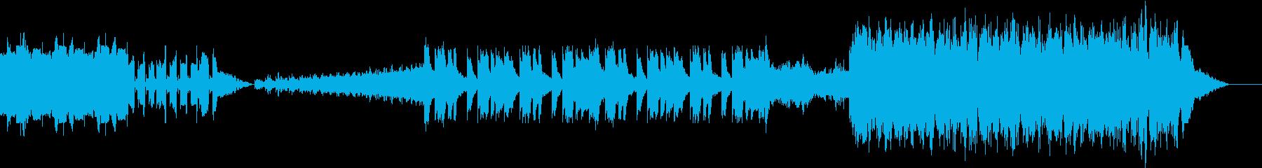 宇宙人からの侵略やボス感のある曲の再生済みの波形