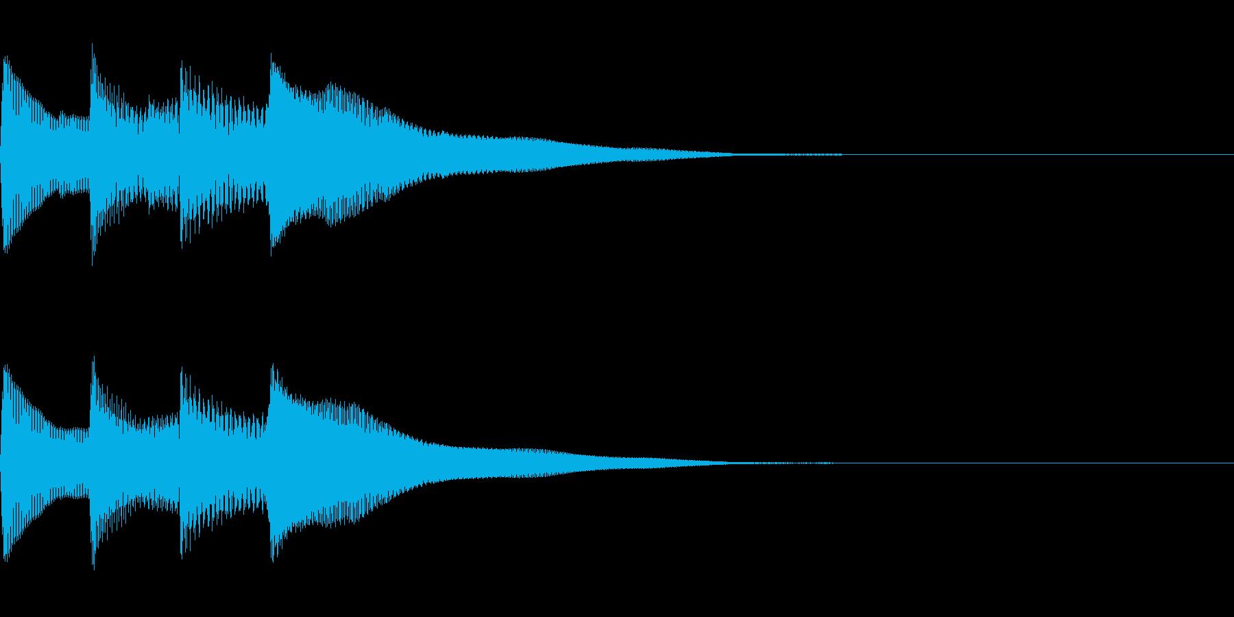 正解 1B 控え目な音 ピポピポーンの再生済みの波形