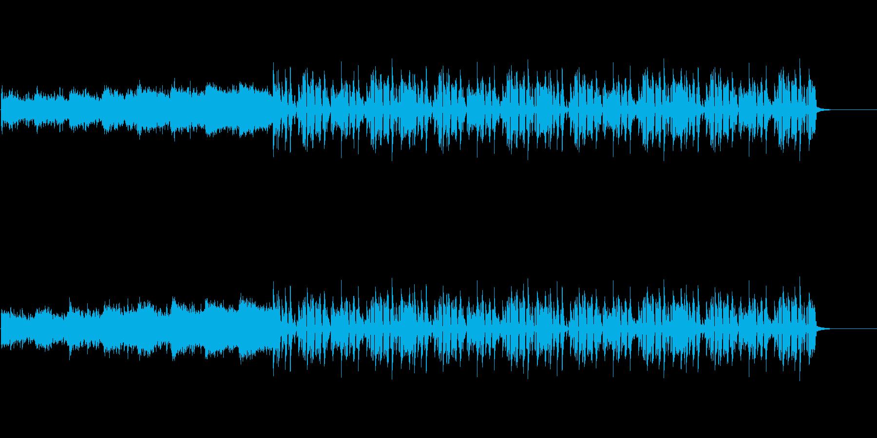 ちょっぴりコメディでスローな四つ打ちの再生済みの波形