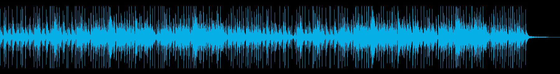幻想的でゆったりとしたハンドパンソロの曲の再生済みの波形