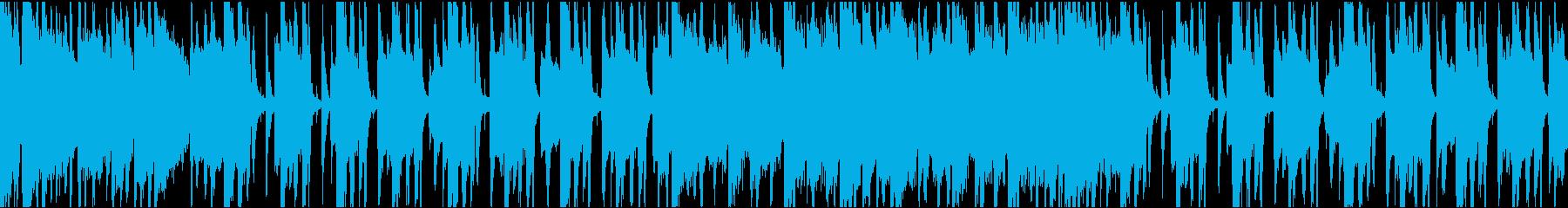 ゆったりコミカル/ループ/イントロ8秒の再生済みの波形