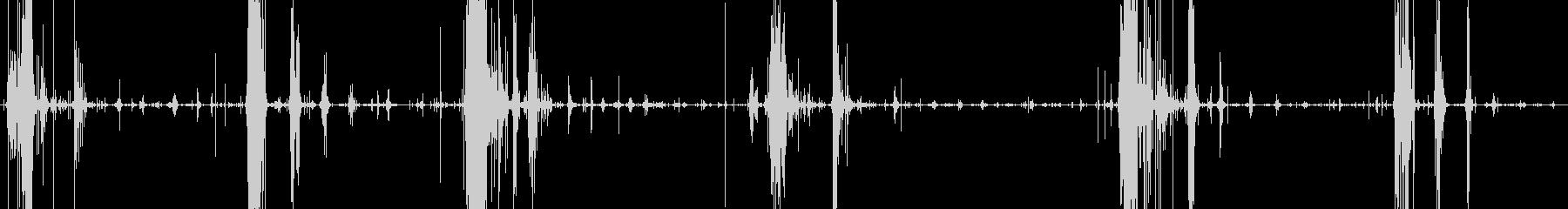 サクサクパイを食べる音の未再生の波形