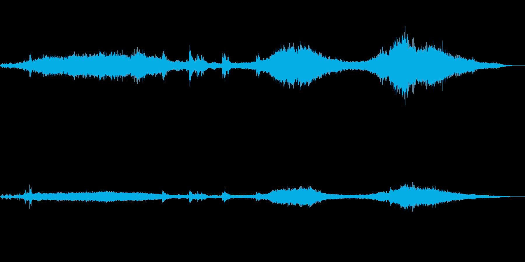 道路の環境音 車 子供 建設の再生済みの波形