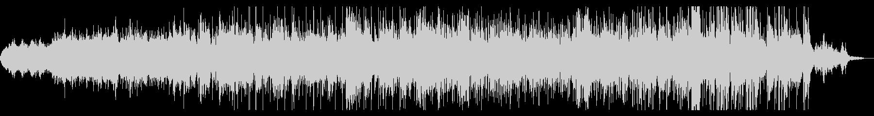 ダークでグリッジなシネマティックBGMの未再生の波形