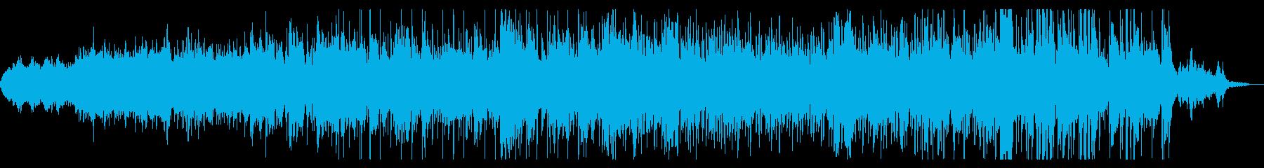 ダークでグリッジなシネマティックBGMの再生済みの波形