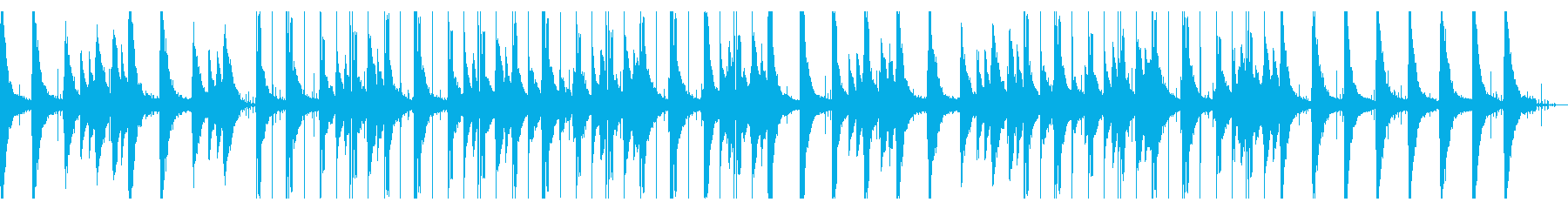 ギターソロのローファイヒップホップの再生済みの波形