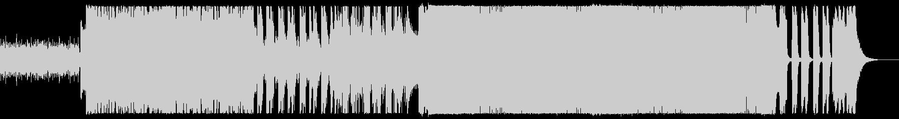 激しく攻撃的なシャウトのメタルの未再生の波形