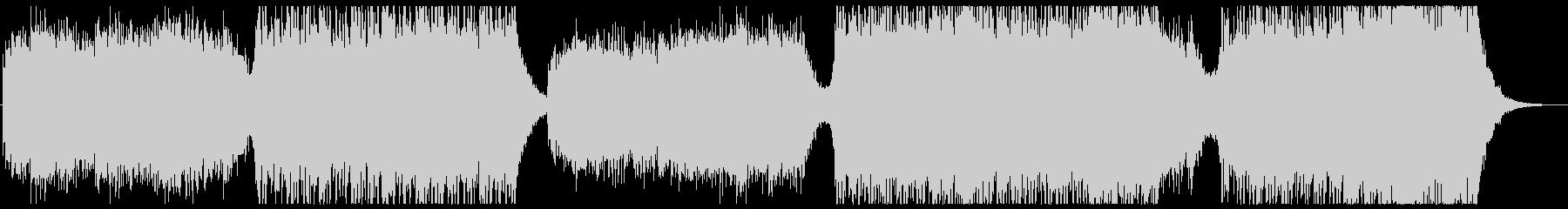 透明感のあるメロディと速いエレクトロの未再生の波形