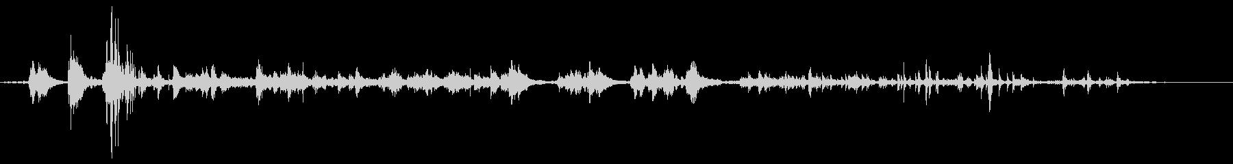 シンク:ドレン、バブルグルグルの未再生の波形