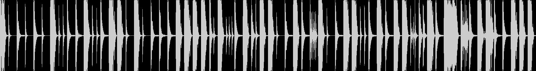 8小節のドラムループの未再生の波形