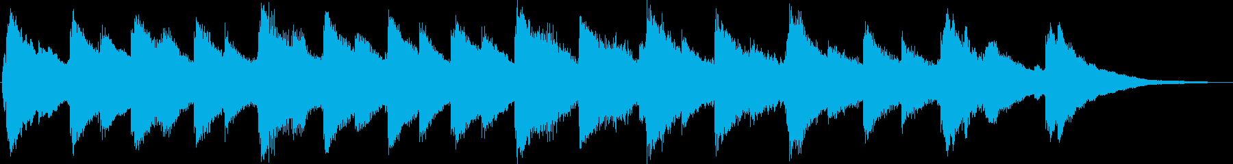 クリスマスをイメージしたオルゴール曲の再生済みの波形