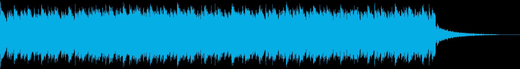 近未来系ゲームCM、予告映像、リズム無の再生済みの波形