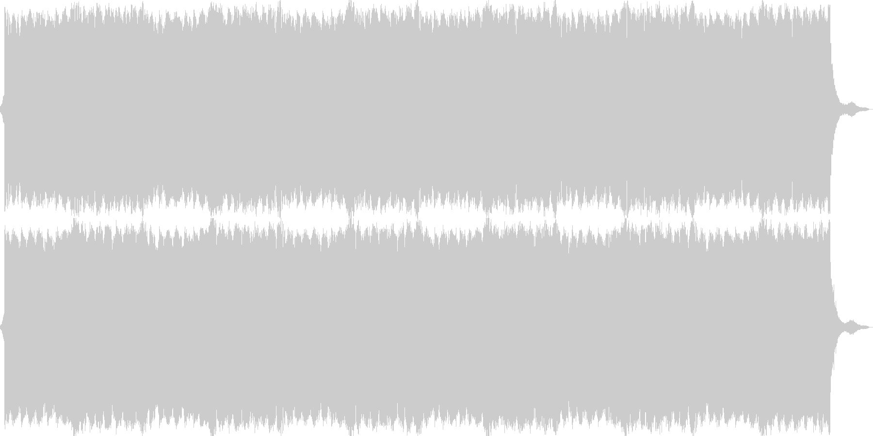 緊張感の溢れる電子的な曲の未再生の波形