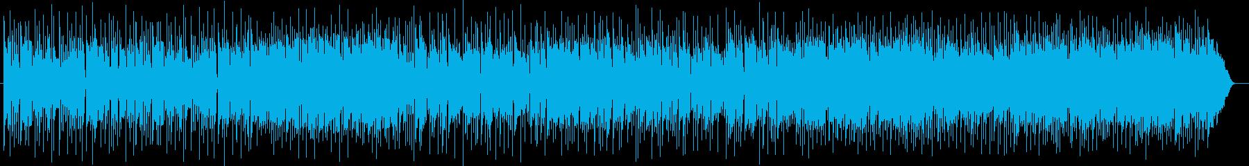 ミディアムテンポのギターサウンドの再生済みの波形