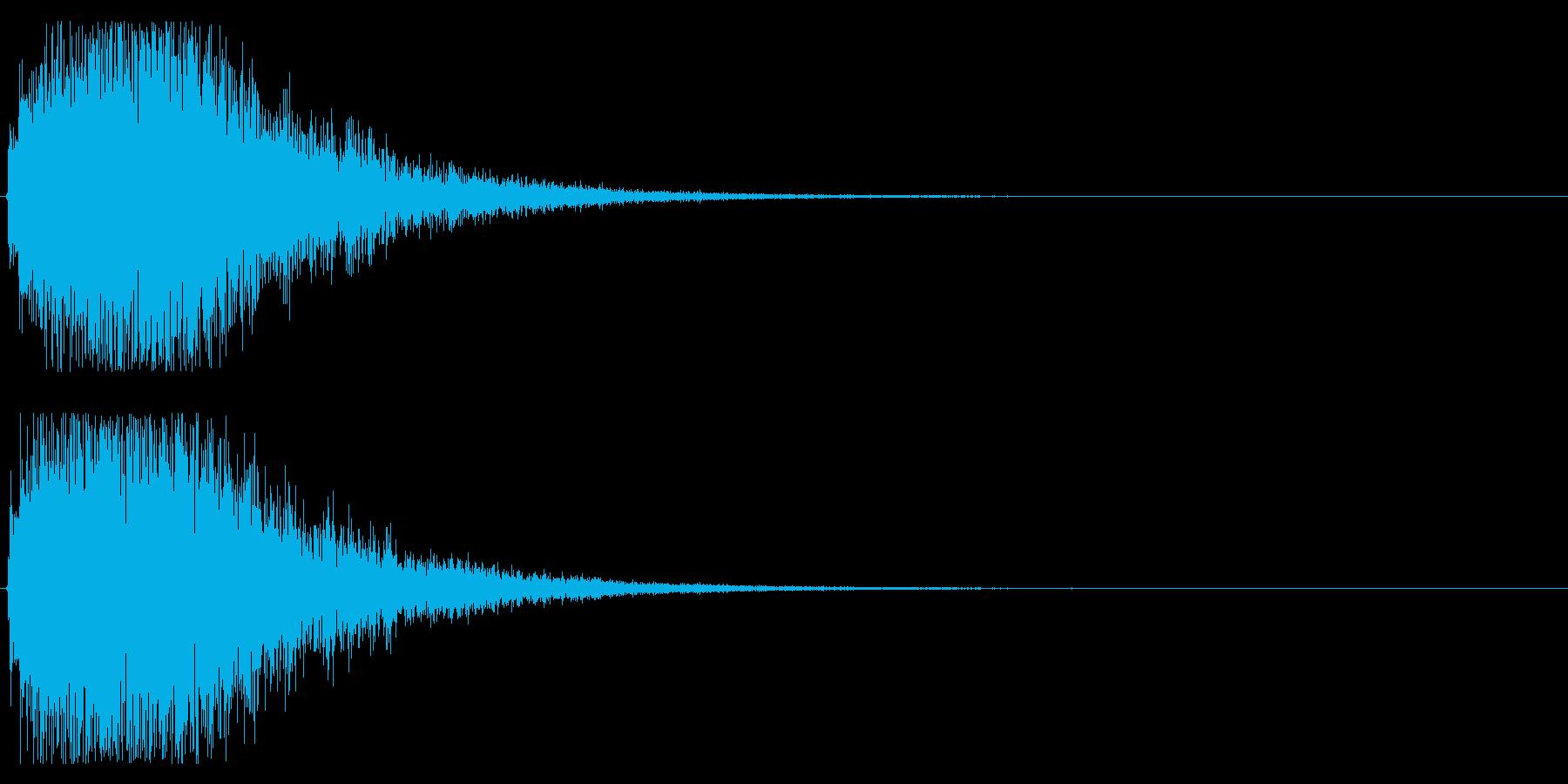 攻撃する、カットイン等のwhooshの再生済みの波形