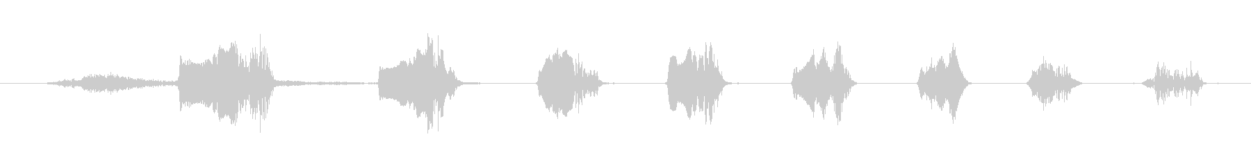 鳴き声 笑いのグローティング04の未再生の波形