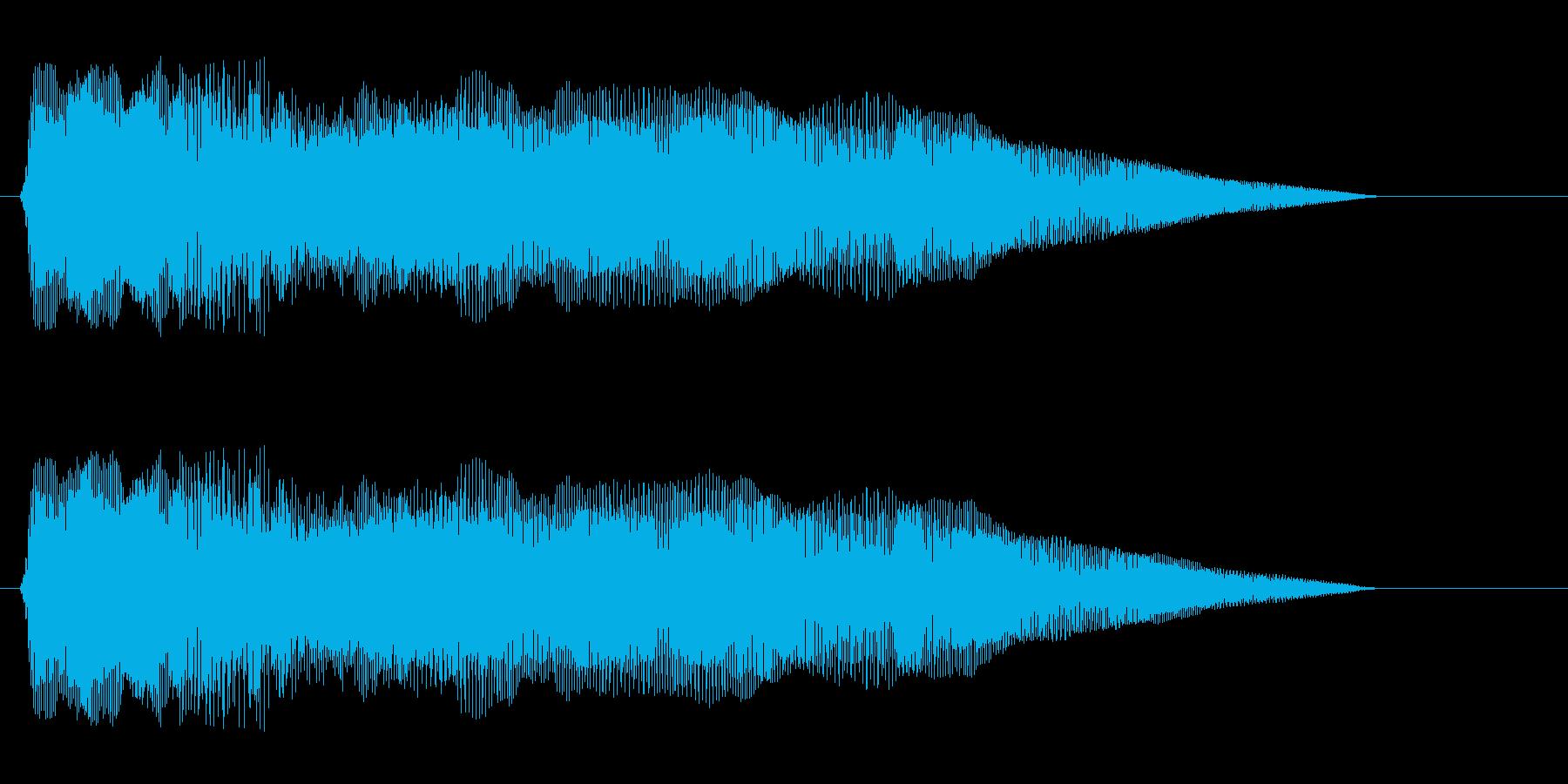 ピヨヨヨョ〜ン(速い)の再生済みの波形