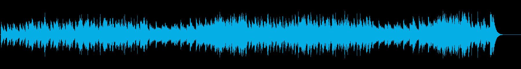 ティンホイッスルとバグパイプの軽快な曲の再生済みの波形