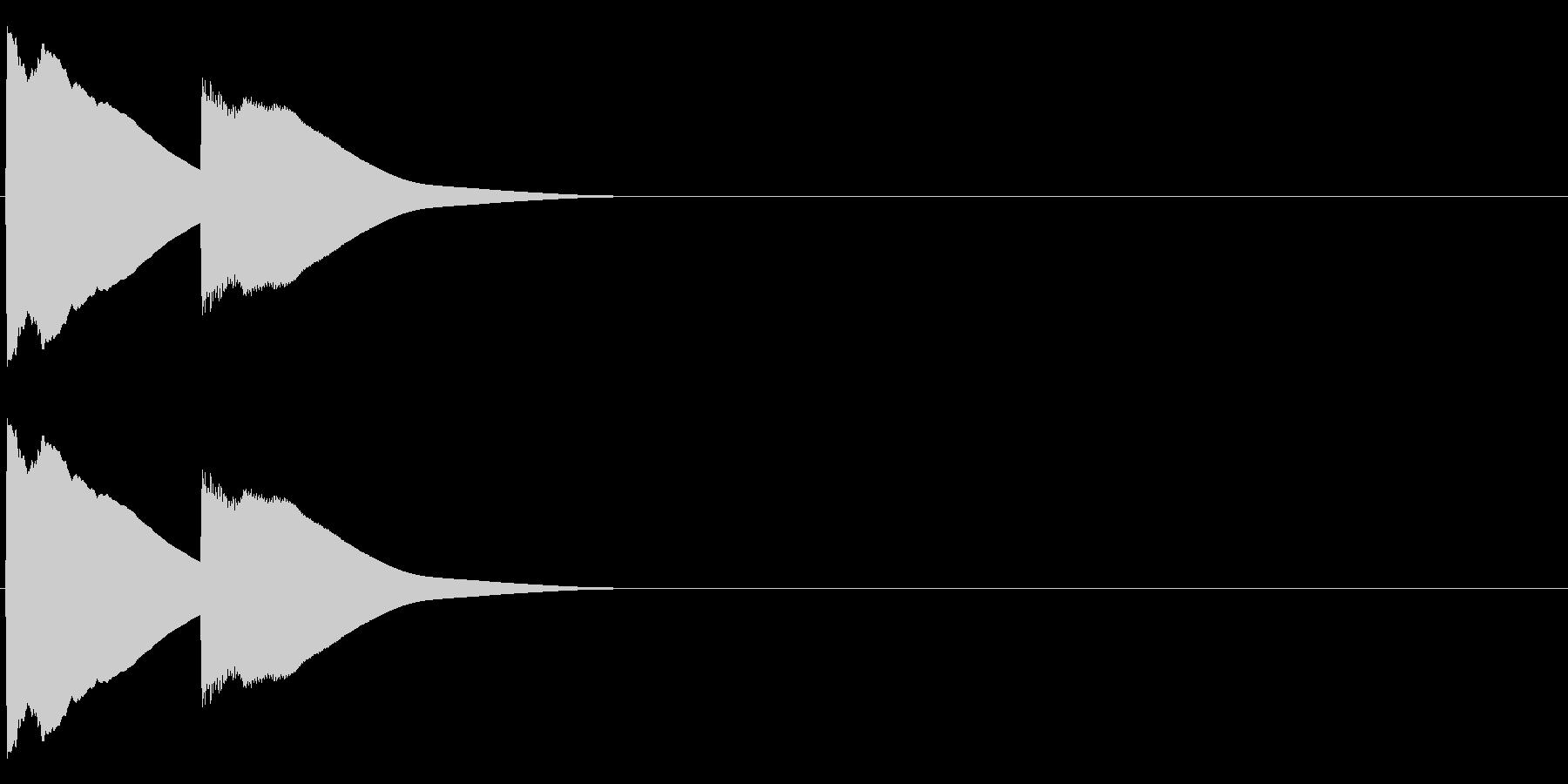 ピンポン(チャイム)の未再生の波形